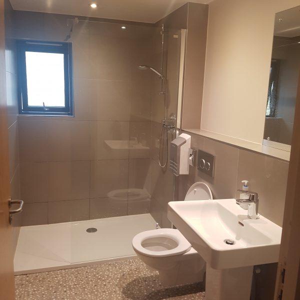 Lovely shower rooms