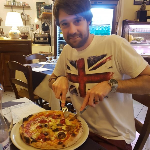 David's amazing pizza at La Taverna di Masaniello