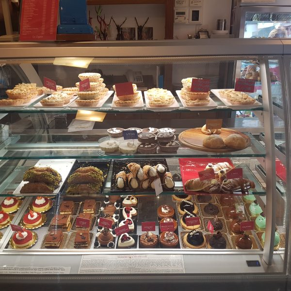 Tasty cakes in Positano