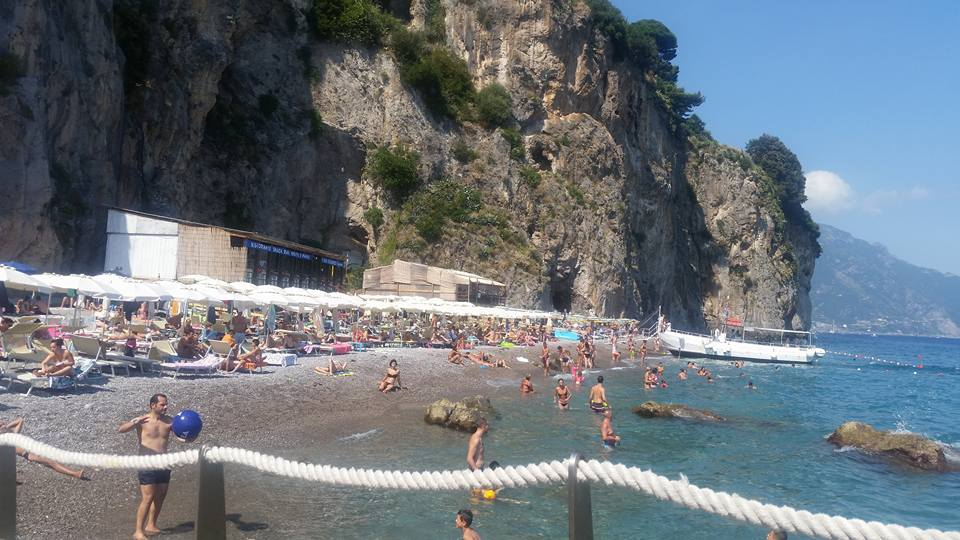 Beach only accessible by spiaggia boat