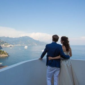 Wedding photos on Amalfi Coast
