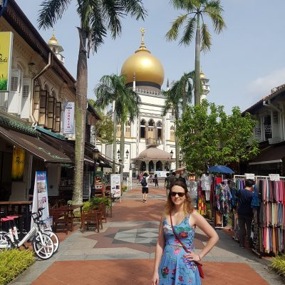 Outside Sultan Mosque