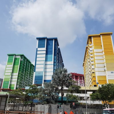 Colourful buildings en route to Little India