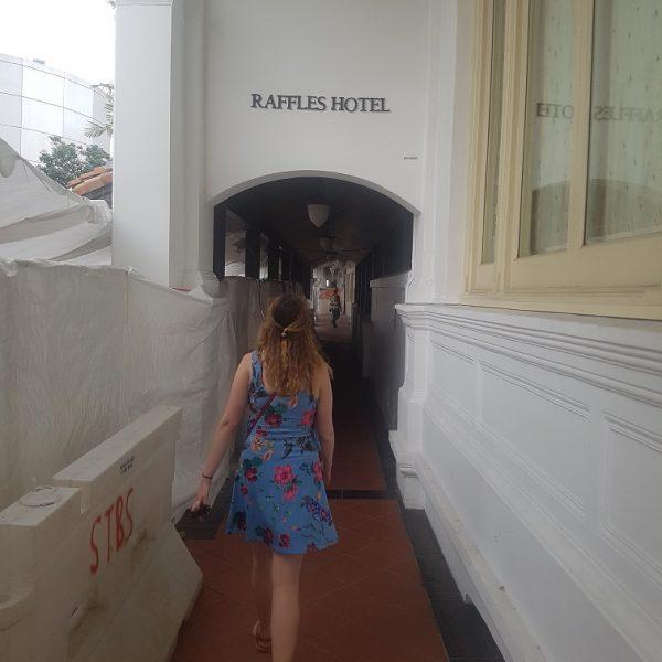 Walking around Raffles Hotel