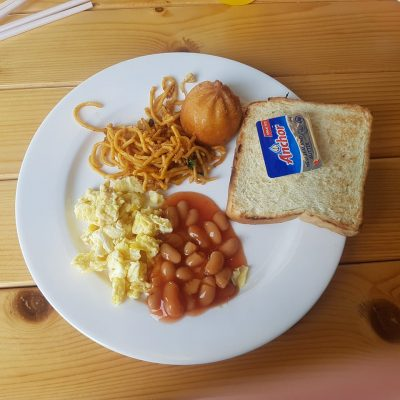 Hotel breakfast fusion