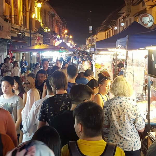Busy night market