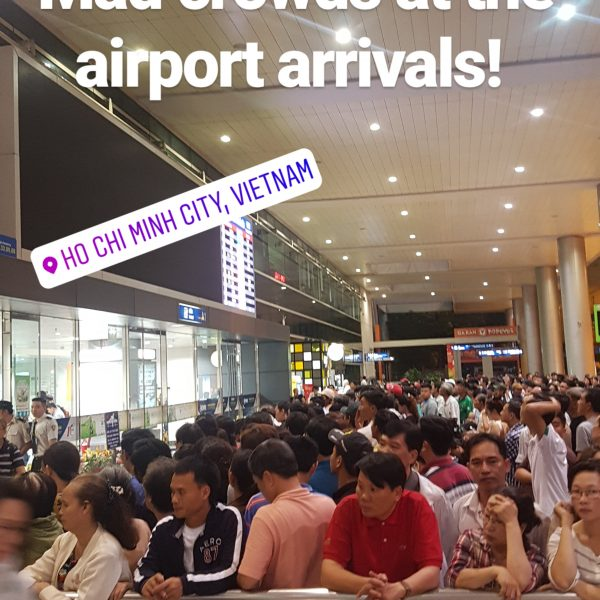 Arrivals area at the airport at 1am!