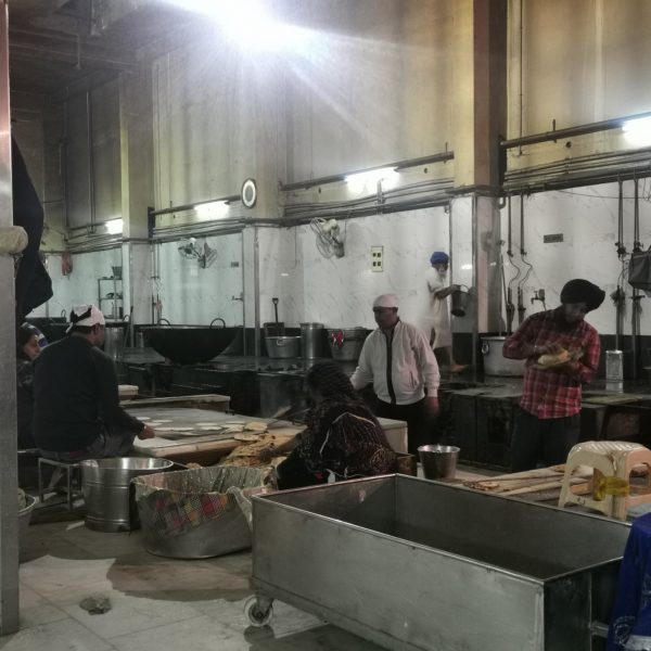 In the langar kitchen