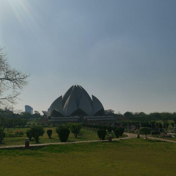 Lotus Temple gardens