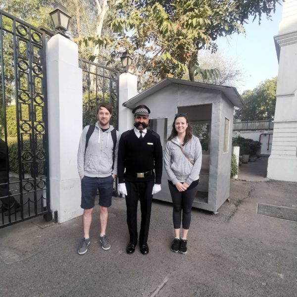 With the friendliest security guard at Maidens Hotel